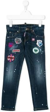 DSQUARED2 patch applique jeans