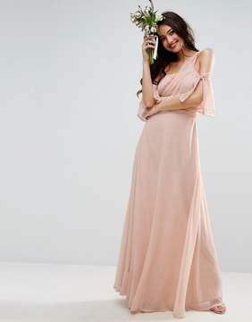 Asos DESIGN Bridesmaid one shoulder maxi dress