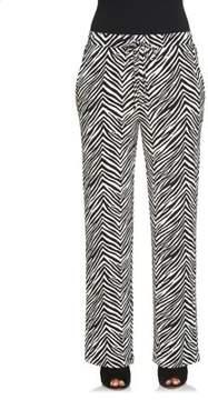 Chaus Wide Leg Zebra Pants