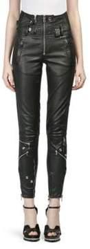 Alexander McQueen Leather Moto Pants