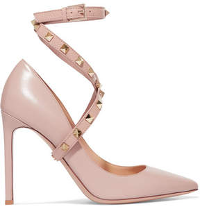 Valentino Studwrap Leather Pumps - Blush