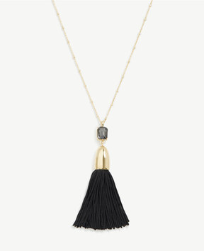Ann Taylor Crystal And Tassel Pendant