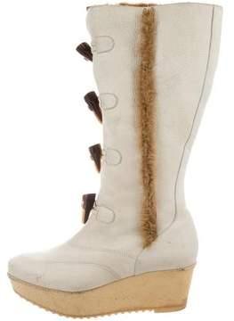Robert Clergerie Wedge Mid-Calf Boots