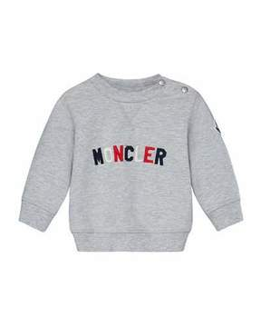 Moncler Logo Embroidered Pullover Sweatshirt w/ Joggers, Size 12M-3Y