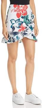 Aqua Ruffled Floral Print Skirt - 100% Exclusive