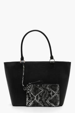 boohoo Purse Detail Shopper Bag