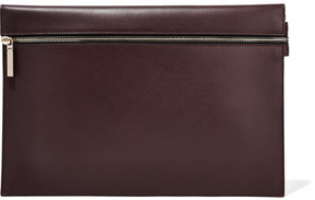 Victoria Beckham - Large Leather Clutch - Merlot