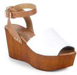 Seychelles Paddle Leather Ankle-Strap Wedge Sandals