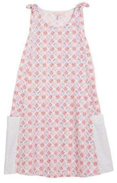 Joules Madeline Coral-Print Sleeveless Cotton Dress, Size 3-10
