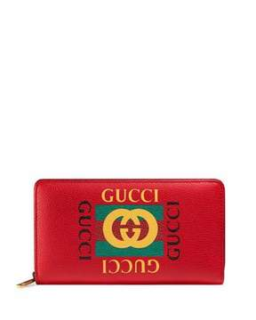 Gucci Logo Zip-Around Wallet