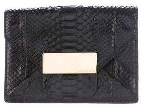 Michael Kors Python Envelope Clutch - BLACK - STYLE