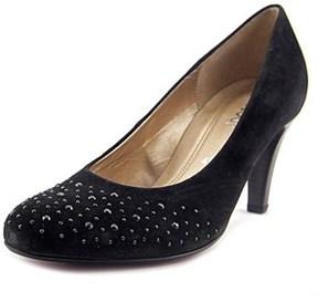 Gabor 95.212 Women Round Toe Suede Black Heels.