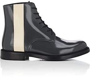 Calvin Klein Men's Stripe-Detailed Spazzolato Leather Boots