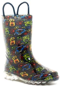 Western Chief Bot Party Light Up Waterproof Rain Boot (Toddler & Little Kid)