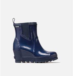 Sorel Womens Joan Rain Wedge Chelsea Gloss Boot