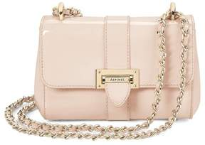 Aspinal of London Micro Lottie Bag In Deep Shine Nude Patent