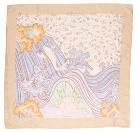 Hermes A Contre-Courant Silk Scarf