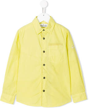 Stone Island Junior cutaway collar shirt