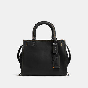 COACH Coach Rogue 25 In Glovetanned Pebble Leather - BLACK COPPER/BLACK - STYLE