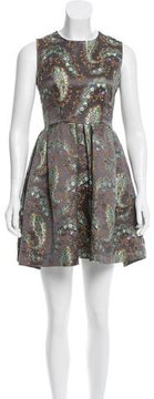 Cynthia Rowley Brocade Sleeveless Mini Dress