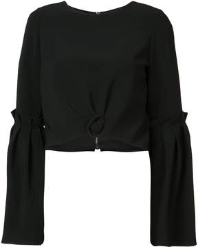 Christian Siriano cropped knot detail top