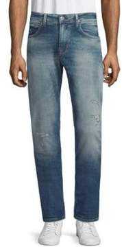 Hudson Distressed Slim Straight Jeans