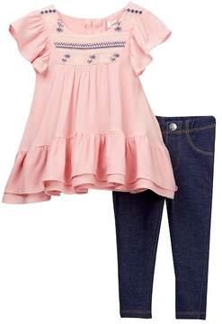 Jessica Simpson Blouse & Printed Leggings 2-Piece Set (Baby Girls)