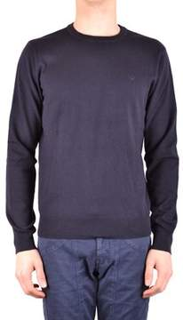 Armani Jeans Men's Blue Cotton Sweater.