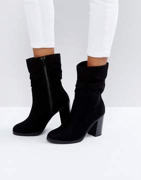 New Look Slouch Mid Calf Heeled Boot