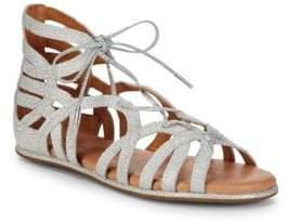 Gentle Souls Break My Heart Metallic Woven Sandals