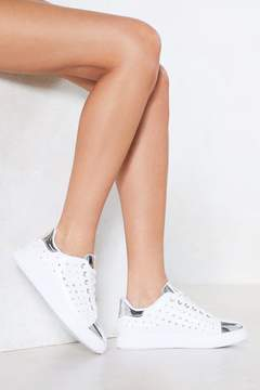 Nasty Gal Sneak Preview Metallic Sneaker