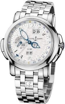 Ulysse Nardin GMT Perpetual Silver Dial 18kt White Gold Men's Watch 320-60-8-60