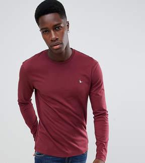 Jack Wills Long Sleeve Logo T-Shirt In Damson