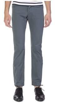 Balenciaga Men's Slim Straight Chino Pants Aqua Blue.