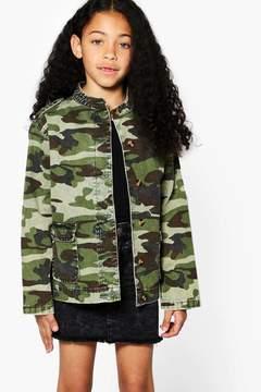 boohoo Girls Camo Jacket