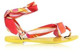 Emilio Pucci Women's Multicolor Silk Sandals.