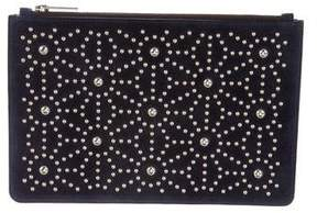 DSQUARED2 Studded Suede Zip Pouch
