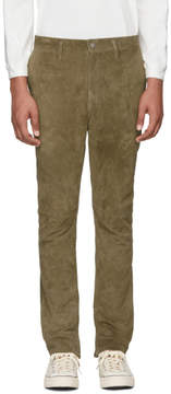Nonnative Khaki Suede Explorer Trousers