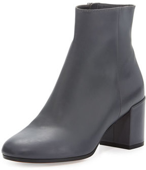 Vince Blakely Leather Ankle Boot, Pewter
