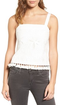 Cooper & Ella Women's Camila Embroidered Cotton Tank