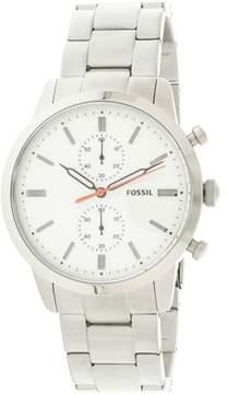 Fossil Men's Townsman FS5346 Silver Stainless-Steel Japanese Quartz Fashion Watch