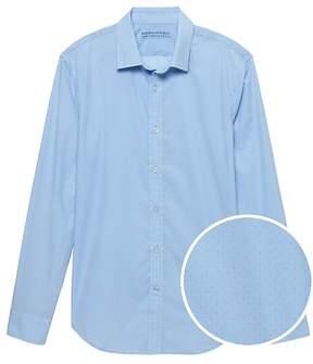 Banana Republic Camden Standard-Fit Luxe Poplin Dot Shirt
