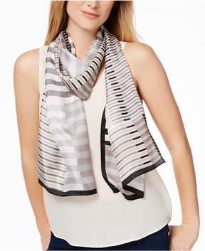 Calvin Klein Modern Grid Silk Scarf