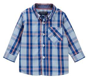 Andy & Evan Blue Plaid Shirt (Baby Boys)