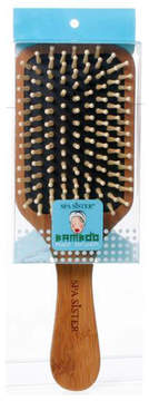 Smallflower Bamboo Wood Bristle Paddle Hair Brush by Bath Accessories Company
