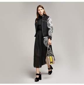 Amanda Wakeley   Black Sheer Cloque Jacquard Jacket   L   Black