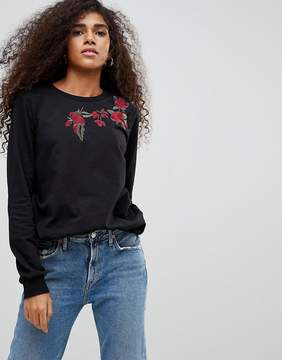 B.young Rose Embroidered Sweatshirt