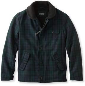 L.L. Bean L.L.Bean Signature Sherpa-Lined Wool-Blend Jacket, Slim Fit Plaid