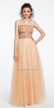 Camille La Vie Beaded Tulle Evening Dress