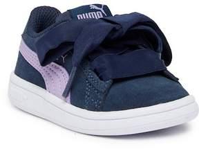 Puma Smash V2 Ribbon Suede Sneaker (Toddler)